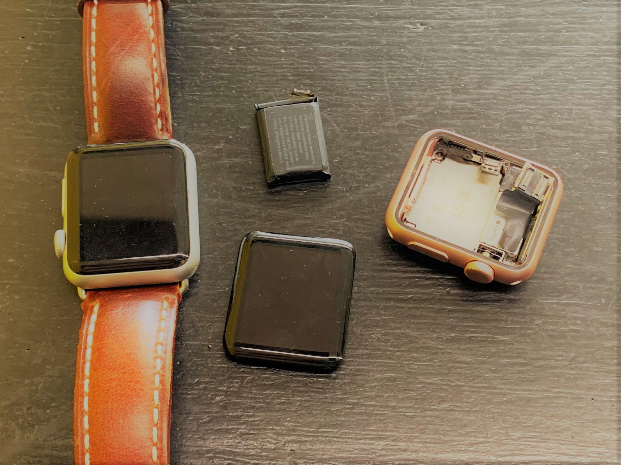 cracked apple watch screen wont work